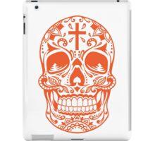 Sugar Skull, Day Of the Dead, Halloween Orange SugarSkull iPad Case/Skin
