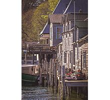 A Sunny Day in Leland, Michigan Photographic Print