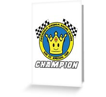 Special Cup Champion Greeting Card