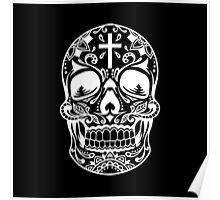 Sugar Skull, Day Of the Dead, Halloween White SugarSkull Poster
