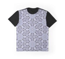 White Lace Pattern Graphic T-Shirt
