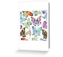 Watercolor Butterfly Pattern Greeting Card