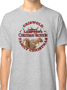 National Lampoon's – Christmas Vacation Deep Red Text Classic T-Shirt