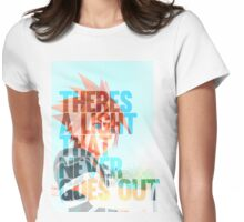 There's a light that never goes out Womens Fitted T-Shirt