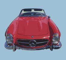 Red Mercedes Benz 300 SL Convertible Kids Tee