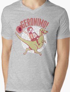 Geronimo-Dino! Mens V-Neck T-Shirt