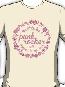 """I Want To Be A Punk Rocker""  T-Shirt"