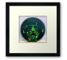 Mushrooms and the green man Framed Print