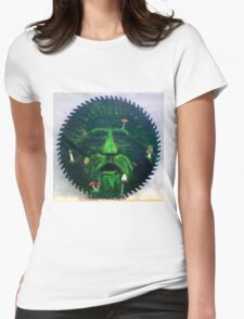 Mushrooms and the green man Womens Fitted T-Shirt