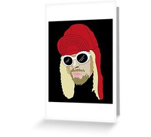 KC Vector Portrait - Black Greeting Card