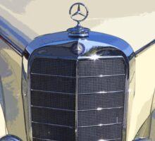 White Mercedes Benz 300 Luxury Car Sticker