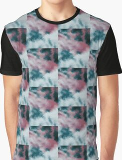Abstract Paint Edit of Clouds Graphic T-Shirt