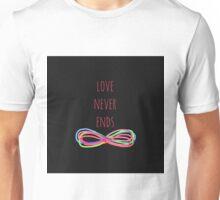 Love Never Ends (black) Unisex T-Shirt