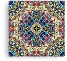 Boho Geometric Mandela Pattern Canvas Print