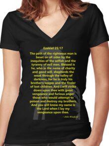 Ezekiel 25:17 Pulp Fiction Women's Fitted V-Neck T-Shirt