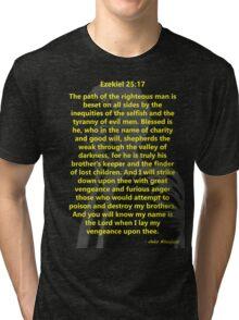 Ezekiel 25:17 Pulp Fiction Tri-blend T-Shirt