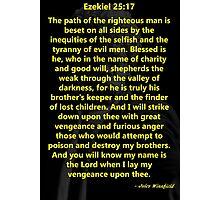 Ezekiel 25:17 Pulp Fiction Photographic Print