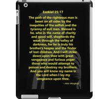 Ezekiel 25:17 Pulp Fiction iPad Case/Skin