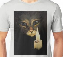 Cat & Candle Unisex T-Shirt
