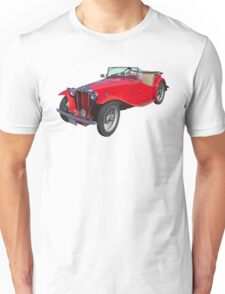 Red MG Convertible Antique Car Unisex T-Shirt