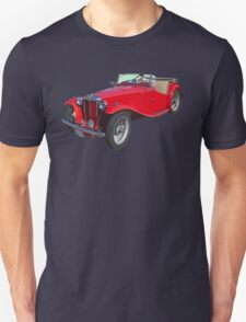 Red MG Convertible Antique Car T-Shirt
