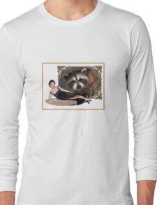 Raccoon lady frame delight Long Sleeve T-Shirt