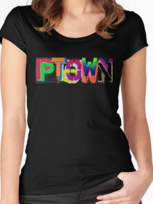 Ptown nights • Dave Hay Women's Fitted Scoop T-Shirt