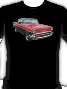 Red and Black 1957 Chevy Belair T-Shirt