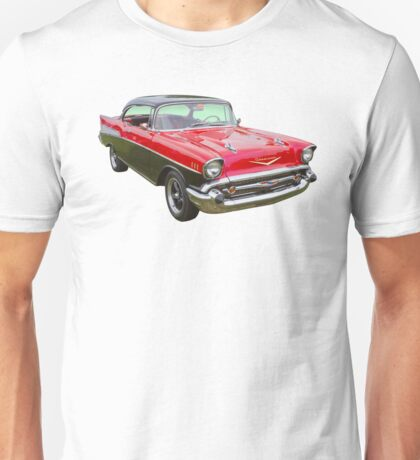 Red and Black 1957 Chevy Belair Unisex T-Shirt