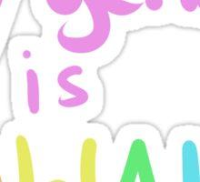My Gender Is Kawaii Sticker