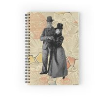 Steampunk Victorian Strolling Couple  Spiral Notebook
