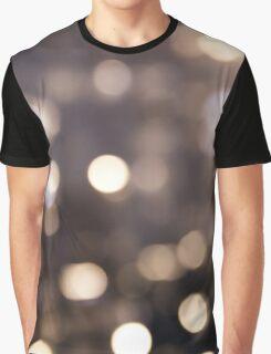 Bokeh Rain (black) Graphic T-Shirt
