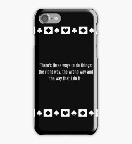 Robert De Niro Casino quote Sam Ace Rothstein iPhone Case/Skin