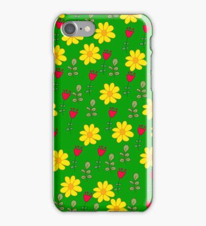 Summer green pattern iPhone Case/Skin