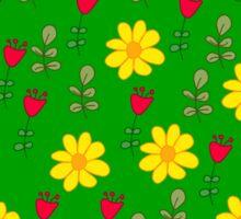 Summer green pattern Sticker