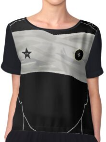 Black/Star:Twin Chiffon Top