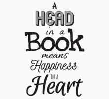 Head in A Book Means Happiness In A Heart One Piece - Long Sleeve