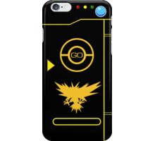 PokemonGO Alternate Team Instinct Themed Pokedex Case iPhone Case/Skin