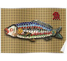 Antique Japanese Fish Brooch Poster