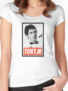 (MOVIES) Tony Montana Women's Fitted Scoop T-Shirt