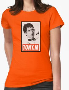 (MOVIES) Tony Montana Womens Fitted T-Shirt