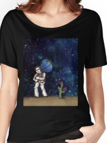 Weight of the World on His Shoulders, Too Women's Relaxed Fit T-Shirt