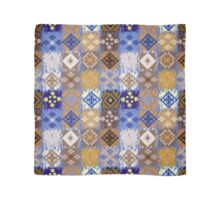 Blue & Gold Boho Patchwork Pattern Scarf