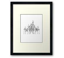 Sleepy's Aesthetic Castle Framed Print