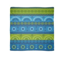 Green & Blue Boho Geometric Pattern Scarf