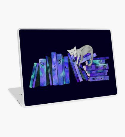 FanGirl Bookshelf Purple Laptop Skin