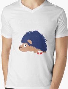 Blue Hedgehog Mens V-Neck T-Shirt