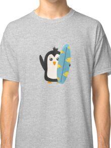 Surfboard Penguin   Classic T-Shirt