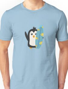 Surfboard Penguin   Unisex T-Shirt