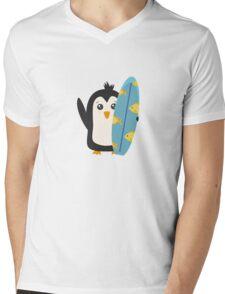 Surfboard Penguin   Mens V-Neck T-Shirt